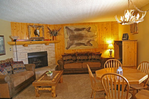 Rental living room at Range View Rentals.