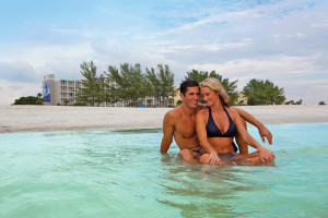 Couple at Guy Harvey Outpost Resort.