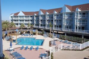 Resort pool at A B Sea Resorts.