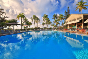 Outdoor pool at La Creole Beach Hotel & Spa.