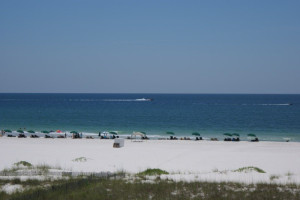 The beach at Gulf Beach Rentals.