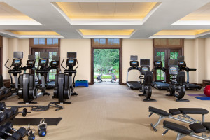 Fitness room at Salamander Resort & Spa.
