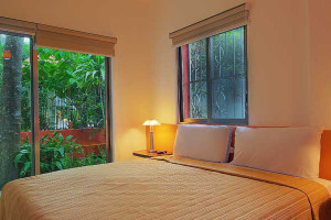 Guest room at Riveria Maya Suites.