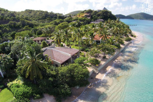 Aerial view of Mango Bay Resort.