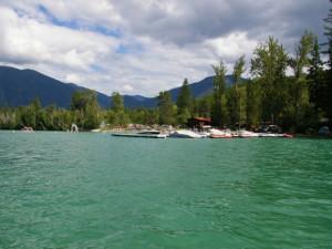 Lake view at Lake Five Resort.