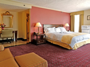 Guest Room at the Radisson Lackawanna Station Hotel Scranton
