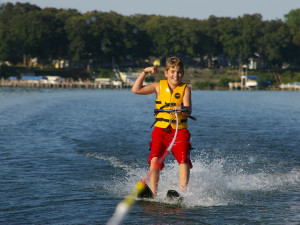 The kids will love water-skiing at West Lake Okoboji!