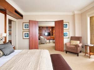 Guest room at Hotel Okura Amsterdam.