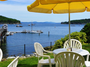 Patio view at Bar Harbor Inn & Spa.