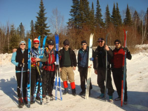 Skiing group at Cascade Lodge.