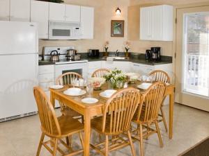 Condo kitchen at Attitash Mountain Village Resort.
