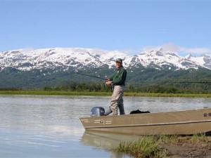 Fishing at Gone Fishin' Lodge.