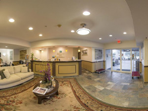 Lobby view at  Quality Inn Lincoln City.