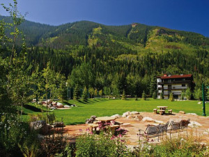 Exterior of Vail Racquet Club.