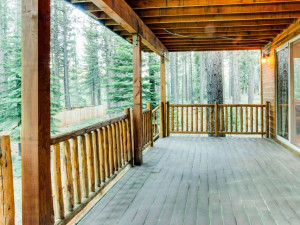 Vacation rental deck at Vacasa Rentals Lake Tahoe.