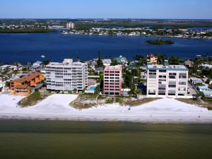 Aerial view of Casa Playa Resort.