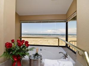 Guest bathroom at Ocean View Resort.