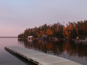 Lake view at Tallpine Lodges.