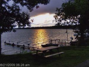The lake at Spruce Lodge Resort.