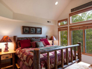Guest bedroom at Park City Resort Properties.