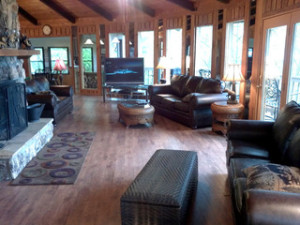 Living Room View at Baskins Creek Cabin Rentals