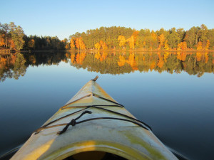 Kayaking on the lake at Idle Hours Resort.