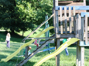 Kid's playground at Cabins in Hocking.