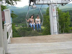 Ski lift near Best Western Adirondack Inn.