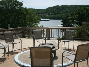 Patio area at White Wing Resort on Table Rock Lake.