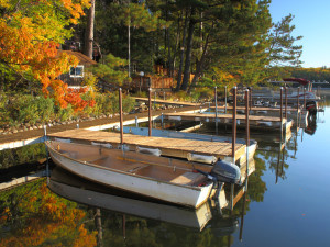 Boats at White Birch Village Resort.