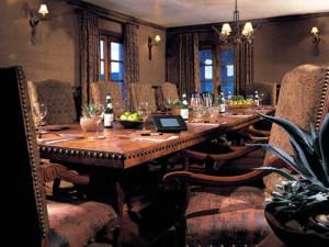 Conference table at Lajitas Resort.