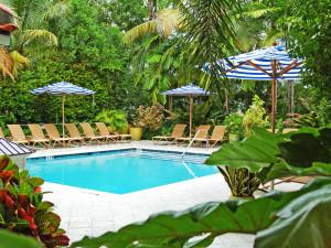 Outdoor pool at Parrot Key Resort.