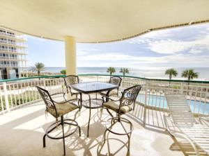Rental balcony at Beach Colony Resort.