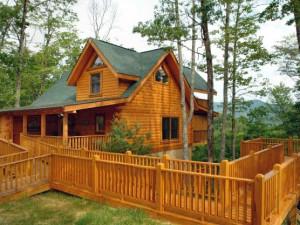 Cabin exterior a tLittle Valley Mountain Resort.