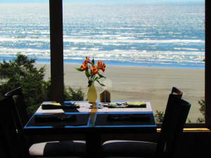 Dining at Ocean Crest Resort.
