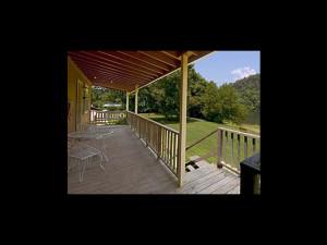 Porch view at Fulton's Lodge.
