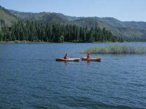 Kayaking at Elk Point Lodge.