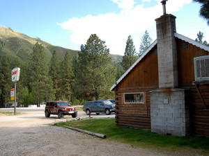 Exterior view of Sourdough Lodge.