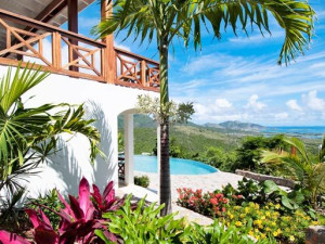 Villa exterior at Island Properties Luxury Rentals.
