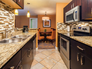 Guest kitchen at Holiday Inn Club Vacations at Desert Club Resort.