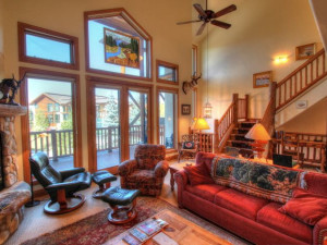 Vacation rental living room at SkyRun Vacation Rentals - Steamboat Springs, Colorado.