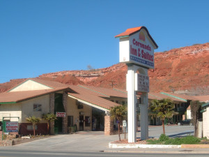 Exterior view of Coronada Inn & Suites.