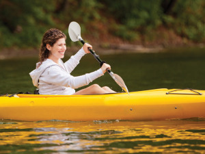 Kayaking at Canyon Ranch in Lenox.