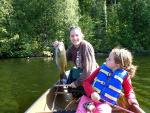 Fishing with family at Birch Forest Lodge.