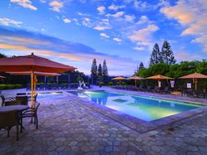 Outdoor pool at Paniolo Greens Resort.
