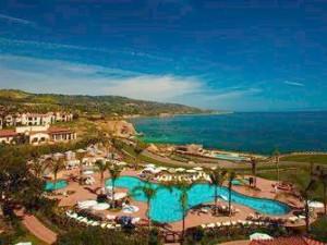 Aerial view of Terranea Resort.
