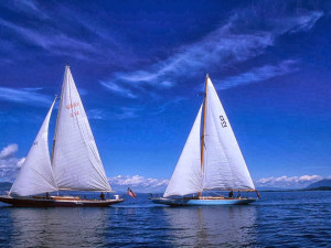 Sail boats at Averill's Flathead Lake Lodge.
