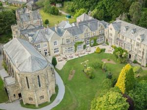 Aerial view of Alverton Manor.