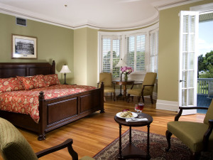 Guest room at Jekyll Island Club Hotel.