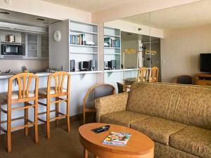 Condo interior at Four Sails Resort.